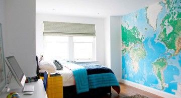 big world map cool painting ideas for bedrooms