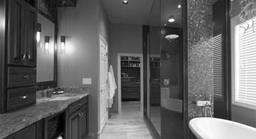 black bathrooms ideas for main bathroom