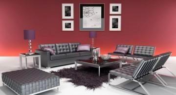 black leather living room set minimalist modern furniture