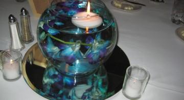 blue orchid bowl centerpiece ideas