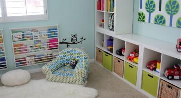 blue themed kids playroom design ideas