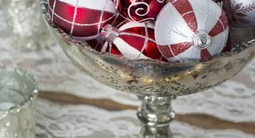 bowl centerpiece ideas with chalice and christmas decoration