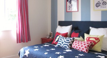 boys blue room in stripes and stars
