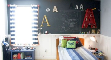 boys room paint ideas for small space with chalkboard wall