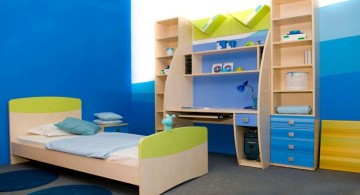 boys room paint ideas in blue gradation