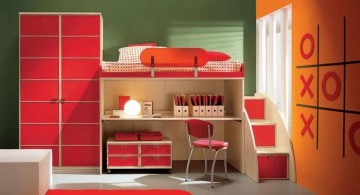 boys room paint ideas in orange and tic tac toe