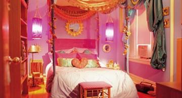 bright color clash teenage girl curtain designs