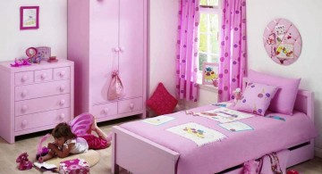 bright pink themed room teenage girl curtain designs
