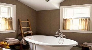 brown bathroom ideas with standalone tub
