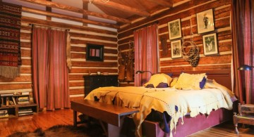 cabin bedroom decorating ideas with frayed linens