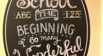 chalkboard writing ideas for school