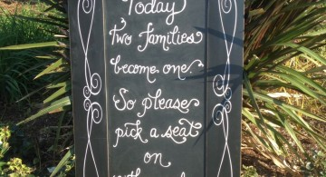 chalkboard writing ideas for wedding sign