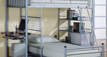 chromatic loft bed with desk white for boys