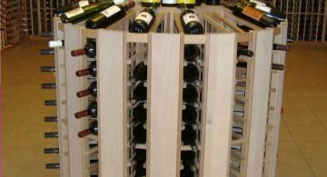 circular contemporary wine cabinet
