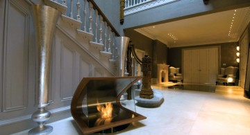 clamshell freestanding fireplaces designs