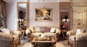 classy Victorian living room
