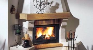 classy scandinavian fireplace design ideas
