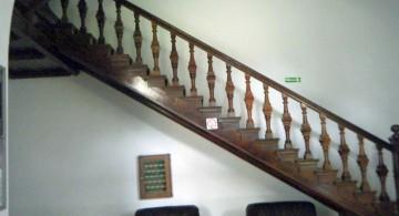 classy wooden staircase designs in dark woods