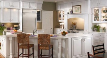 clean white panel and handle ideas for cabinet doors