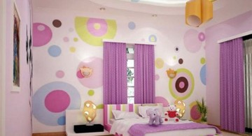 colorful psychedelic circles cool painting ideas for bedrooms
