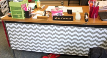 contact paper furniture with Chevron design