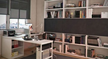 contemporary Acrylic Computer Desk with attached shelf