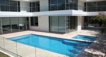 contemporary Backyard pool designs