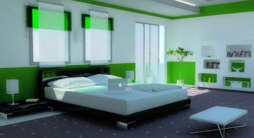 contemporary bedding ideas in green