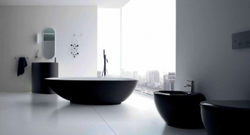 contemporary black bathrooms ideas