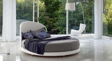 contemporary circular bed