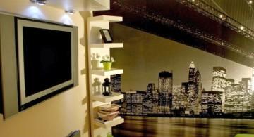 contemporary corner shelf designs