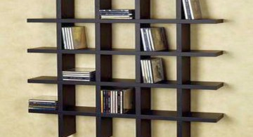 contemporary design floating shelf decorating ideas for DVDs