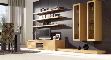 contemporary floating shelf decorating ideas