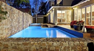 contemporary lap pool designs