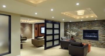 contemporary lighting ideas for basement