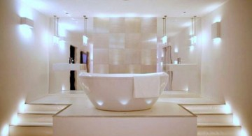 contemporary master bathroom lighting ideas