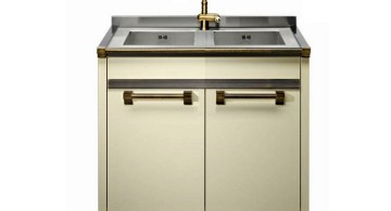 contemporary stand alone kitchen sink
