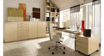 contemporary stylish home office