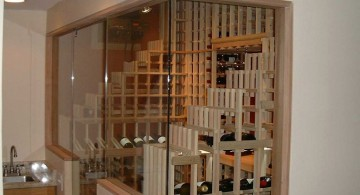 contemporary wine cabinet with nice shelves design