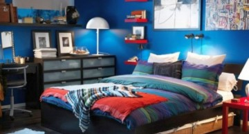 cool bedrooms for teenage guys with floating bookshelf