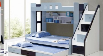 cool bunk bed designs in blue and black