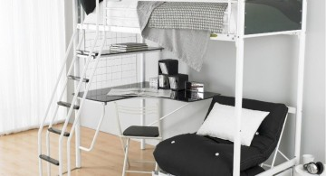 cool bunk bed designs in monochrome