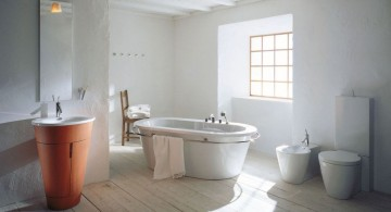 cool modern bathrooms in rustic theme decoration
