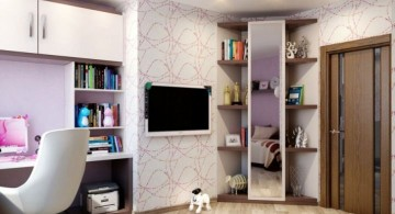 corner shelf designs for teenage girls bedroom
