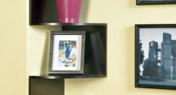 corner shelf designs in black