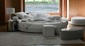 cozy circular bed for small rooms