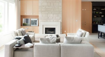 cozy long living room ideas in beige and white