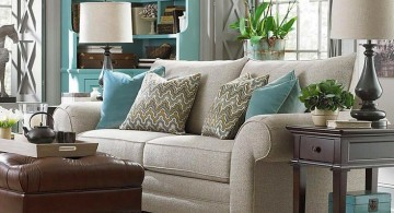 cozy turquoise living room