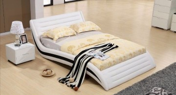 curved bed designs in white with black lining