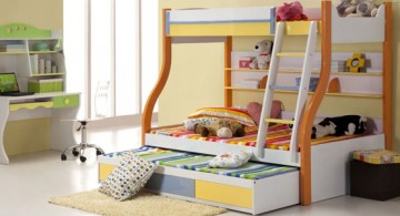 cute and low cool bunk bed designs
